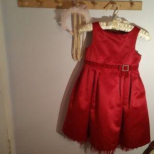 3e1f9ca4c6dd Gymboree Size 7 Red Satin Christmas Formal Dress